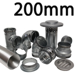 Metal Ducting - 200mm Round System