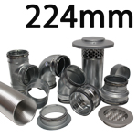 Metal Ducting - 224mm Round System