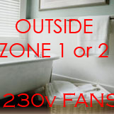 230v Window Fans for Small Bathrooms