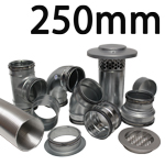 Metal Ducting - 250mm Round System