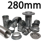 Metal Ducting - 280mm Round System