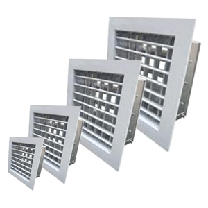 Double Deflection Grille With Damper - White