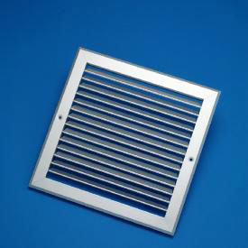 250X150mm White Single Deflection Grille With Damper