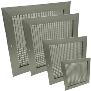 Egg Crate Grilles With Damper - Silver
