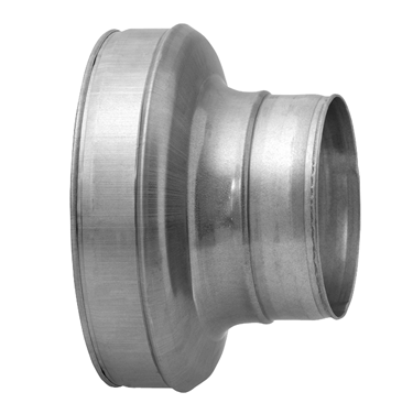 Galv Short Concentric Pressed Reducer - 160 - 150mm