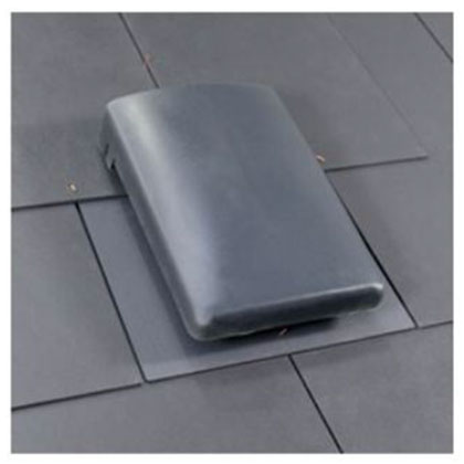 Pitched Roof Slate Vent With 150mm To 100mm Ducting Adapter