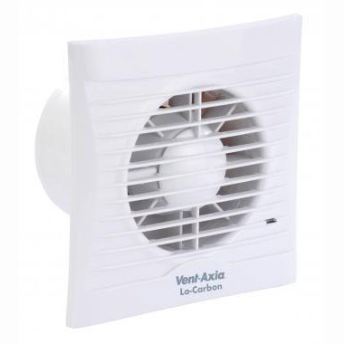 VENT AXIA LO-CARBON SILHOUETTE 100T FAN - 100MM - WHITE