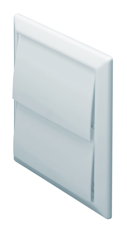 100mm Wall Outlet With Gravity Flaps - White