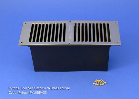 RYTONS 9X3 FLOOR VENT SET - BRASS