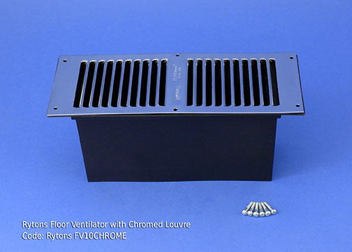 RYTONS 9X3 FLOOR VENT SET - CHROME