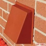 Rytons 125mm Cowled Aircore With Lookryt Louvre - Terracotta