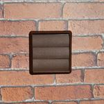 GRAVITY GRILLE 125MM ROUND SPIGOT - BROWN
