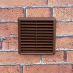 LOUVRED GRILL 110MM X 54MM RECTANGULAR SPIGOT - BROWN