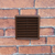 LOUVRED GRILLE 125MM SPIGOT - BROWN