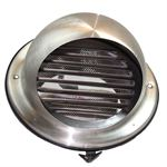125MM BULL-NOSE VENT WITH LOUVRES STAINLESS STEEL DUCTING VENT / GRILLE