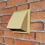COWLED WALL OUTLET 100MM ROUND SPIGOT - BEIGE