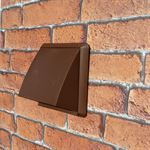 Cowled Wall Outlet 100mm Round Spigot - Brown
