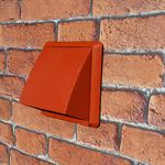COWLED WALL OUTLET 100MM ROUND SPIGOT - TERRACOTTA