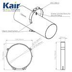 125mm Dia Round Pipe Retaining Clip