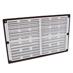Rytons 9X6 Louvre Ventilation Grille With Flyscreen - Brown