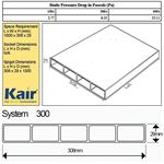 DISCONTINUED - Kair Rectangular Flat Ducting 310mm x 29mm - 1 Metre Length Flat Channel Pipe