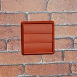 GRAVITY GRILLE 125MM ROUND SPIGOT - TERRACOTTA