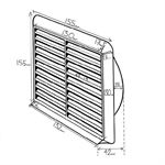 Kair Louvred Grille 100mm - 4 inch White External Wall Ducting Air Vent with Round Spigot
