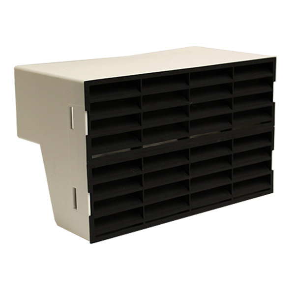 System 204 Double Airbrick Adapter With Black Fitted Grilles