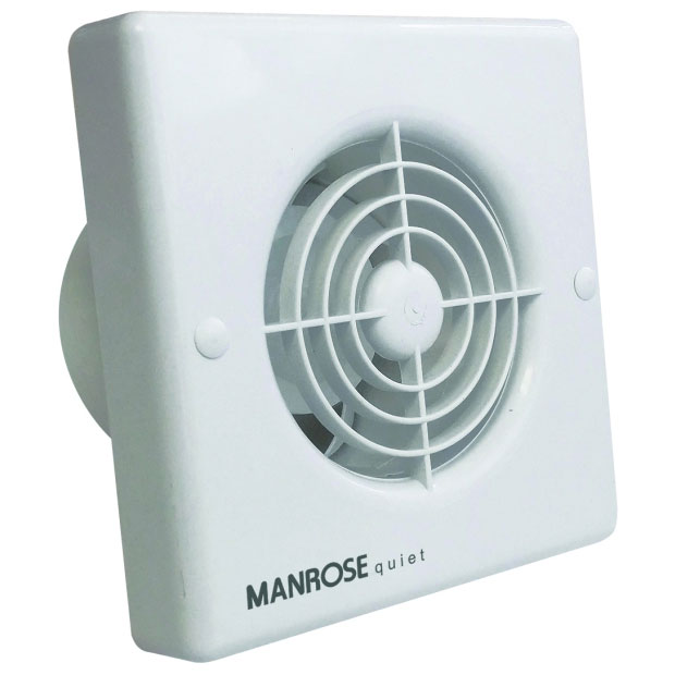 MANROSE QF100H Quiet Humidity Extractor Fan For Bathrooms