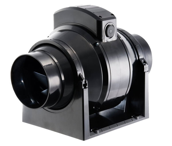 Manrose MF100T 100mm Inline Duct Fan With Timer - Three Speed - High Performance