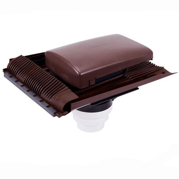 Brown Tile Vent Universal Ventilator With Multi Spigot Connections 100/125/150mm