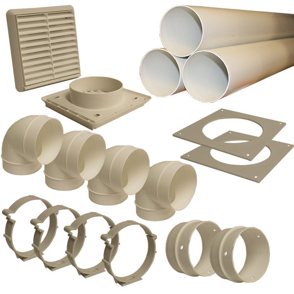 Kair 100mm Round Ducting Kit For Use With Positive Pressure Units
