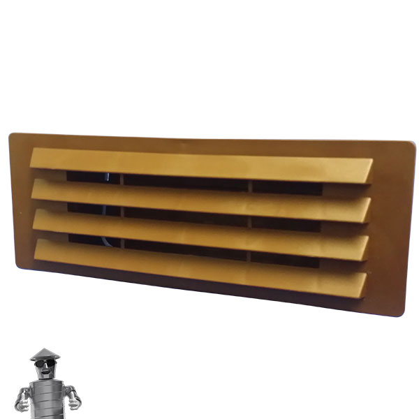 SYSTEM 125 RECTANGULAR 150MM X 70MM AIRBRICK - BROWN