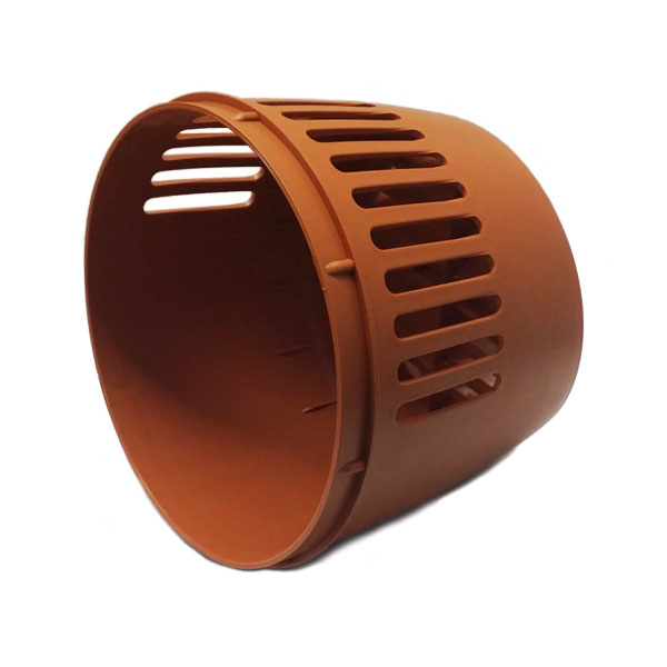 150mm PUSH THROUGH HRV OUTER COWL - TERRACOTTA