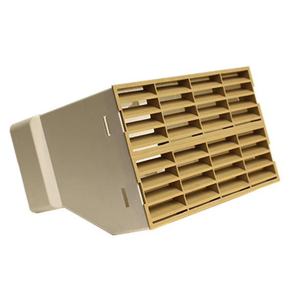 System 220x90 Double Airbrick Adapter With Fitted Grilles - Beige