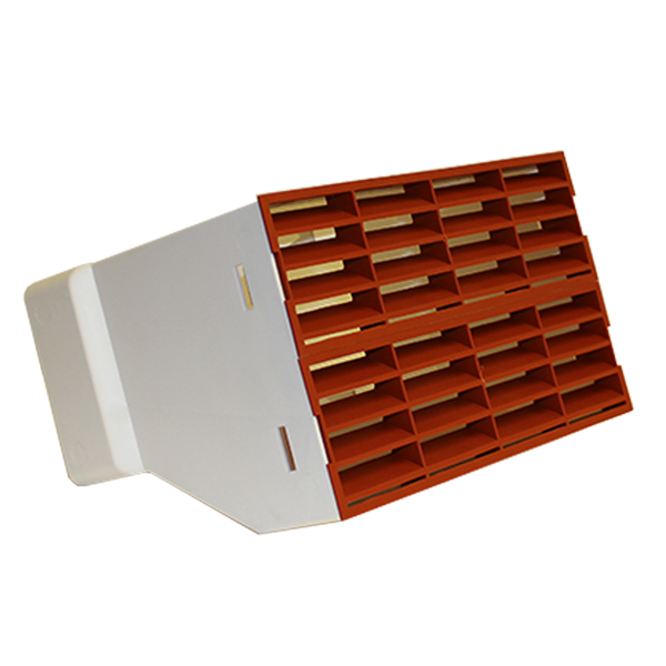 System 220x90 Double Airbrick Adapter With Fitted Grilles - Terracotta