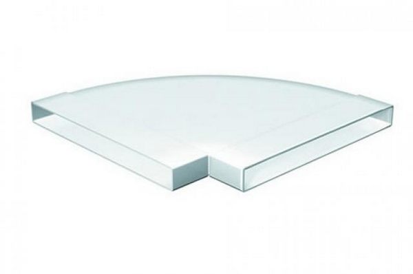Domus 308X29mm 90 Degree Horizontal Bend White Pv Low Profile 300...