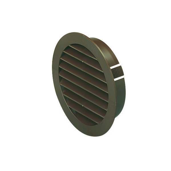 Domus 100mm Soffit Vent Easipipe Rigid Duct Louvered Outlet Brown...