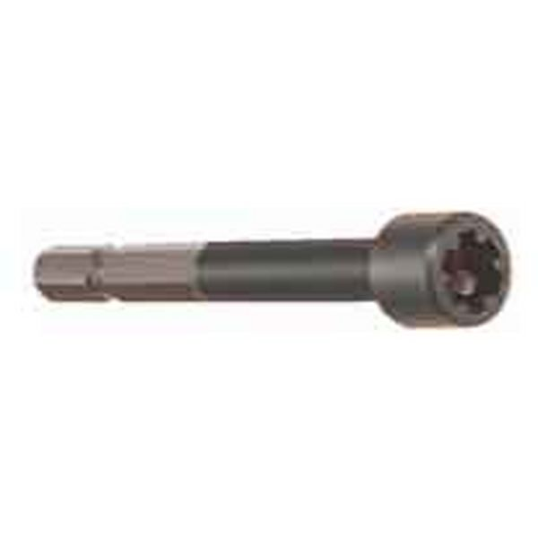 TAMPER PROOF SCREW DRIVER BIT FOR USE WITH POWER DRIVERS