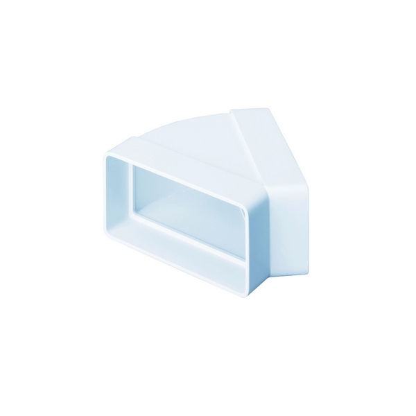 Domus Supertube Rigid Duct 204X60mm 45 Degree Horizontal Bend White
