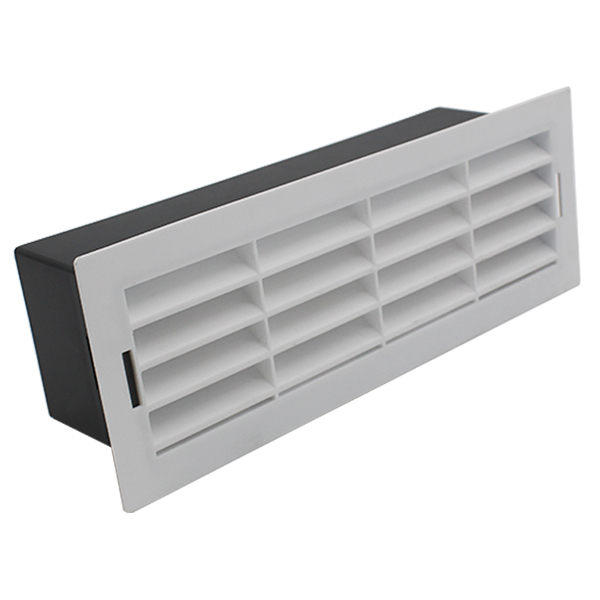 204 X 60mm Airbrick With Surround - White