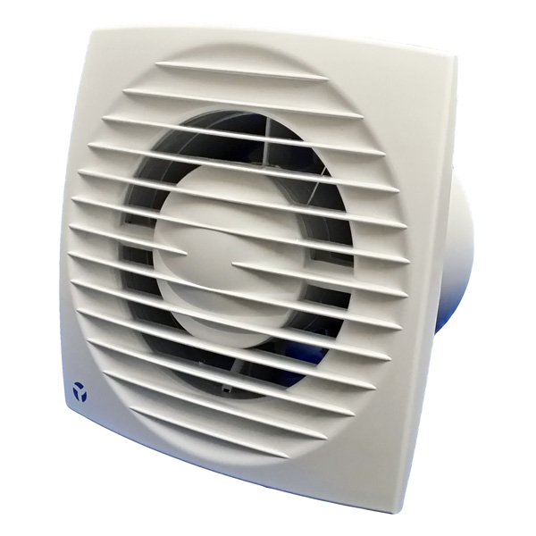 Airflow Aura-Eco 100B - 100mm Slimline Basic Fan For use in toilets, en-suites and ba...