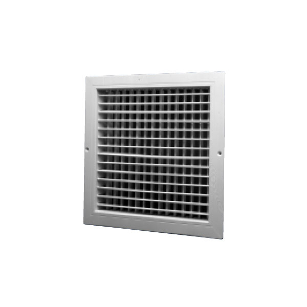 D200 Aircell White Plastic Double Deflection Grille 200X200mm