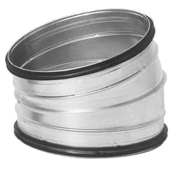 Galvanised Safe Fabricated Bend - 15 Degrees - 630mm