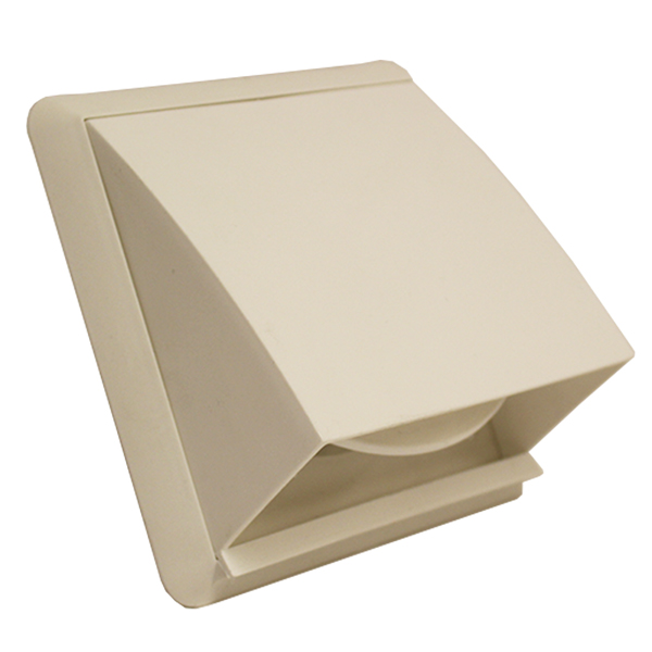 Kair Cowl Vent 125mm - 5 inch White External Wall Vent With Round Spigot and Win...