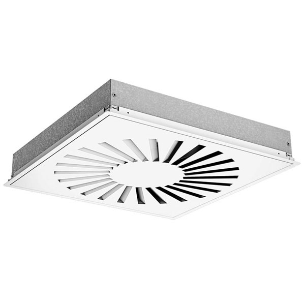 160MM SQUARE SWIRL DIFFUSER - WHITE