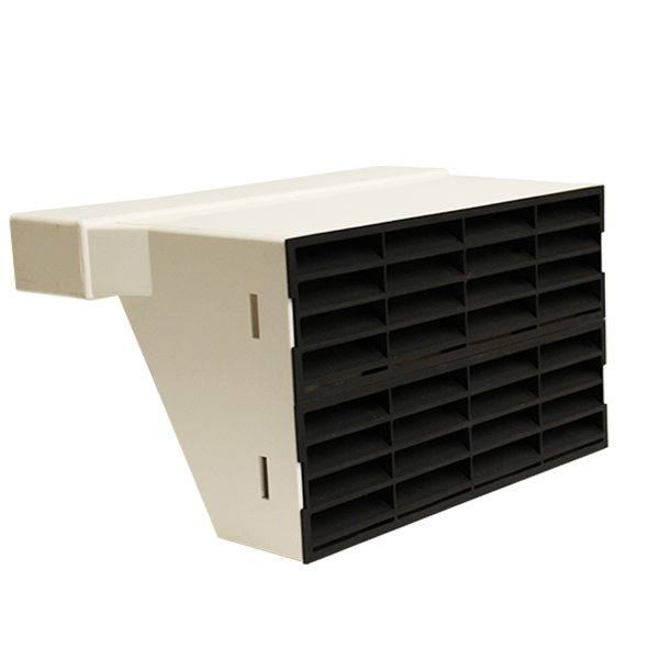 System 225 Double Airbrick Adapter With Black Grille