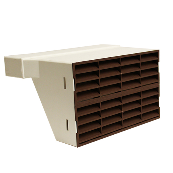 System 225 Double Airbrick Adapter With Brown Grille