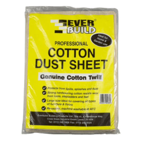 TRADE COUNTER COTTON DUST SHEETS 12 X 9
