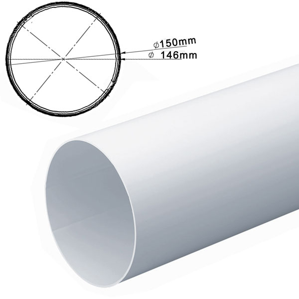 Inner Ducting Sleeve For 150mm Round Pipe 1M -- Not compatible with standard 150...